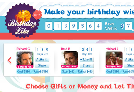 Birthday like APP
